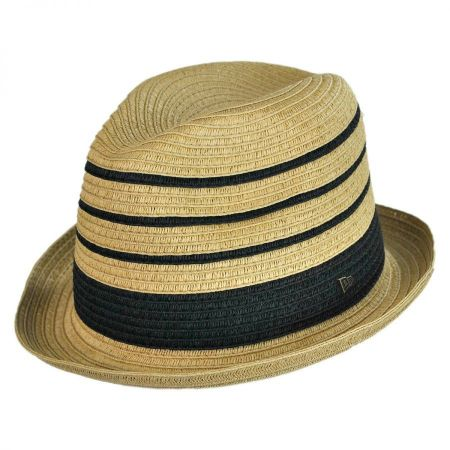EK Collection by New Era Porter Toyo Straw Fedora Hat
