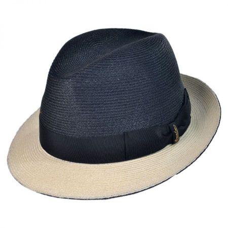 Borsalino 2 Tone Hemp Stingy Brim Fedora Hat