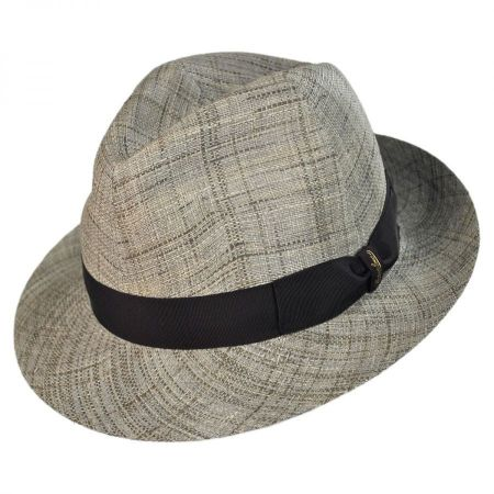 Borsalino Raffia and Fabric Trilby Hat