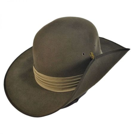 Akubra Aussie Slouch Fur Felt Open Crown Hat