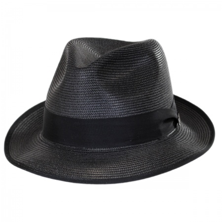 Latte Florentine Milan Straw Fedora Hat alternate view 18