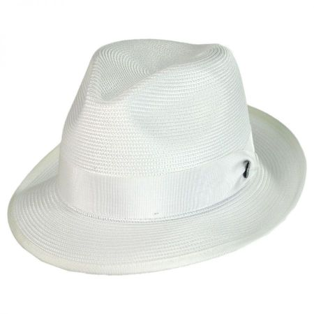 Latte Florentine Milan Straw Fedora Hat alternate view 10