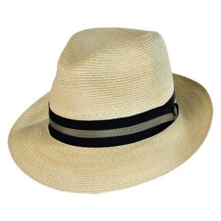 Bristol Hemp Straw Fedora Hat
