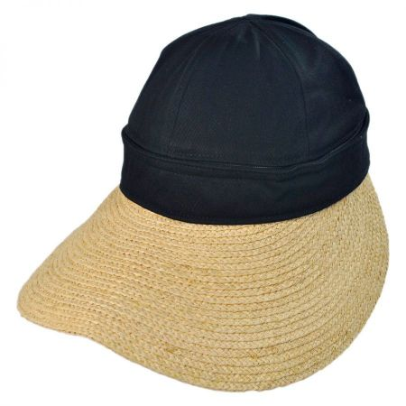 Gottex Regatta Cotton and Raffia Straw Visor