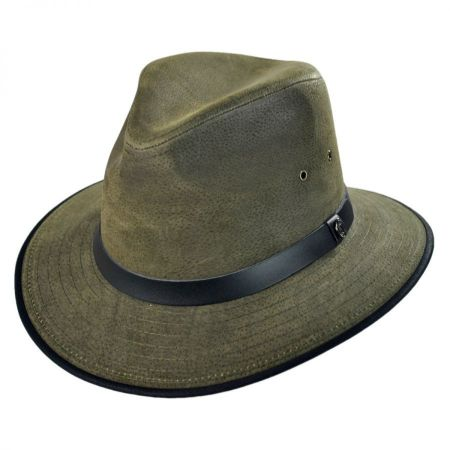 Nubuck Leather Safari Fedora Hat alternate view 9