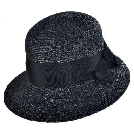 Gottex Darby Milan Straw Cloche Hat