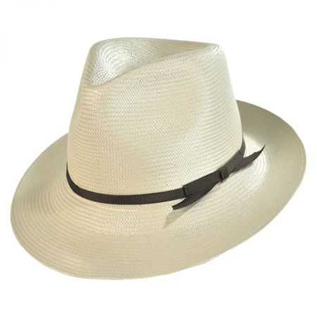 Stetson Forty-Seven Foldable Shantung Straw Fedora Hat