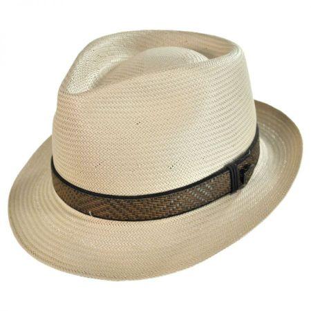 Dobbs Vidalia Shantung Straw Fedora Hat