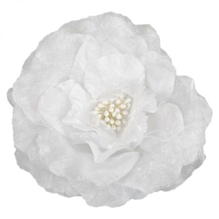 Jeanne Simmons Medium Rose Organza Pin and Clip