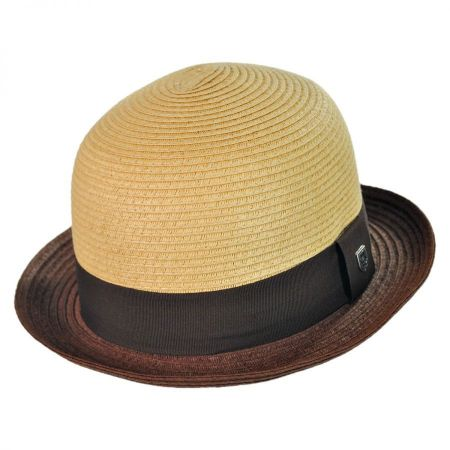 Brixton  Packable Straw Bowler Fedora