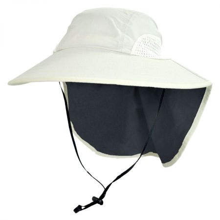 UPF 50+ Large Bill Hat with Neck Flap