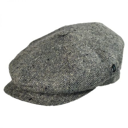 City Sport Caps Silk Herringbone Newsboy