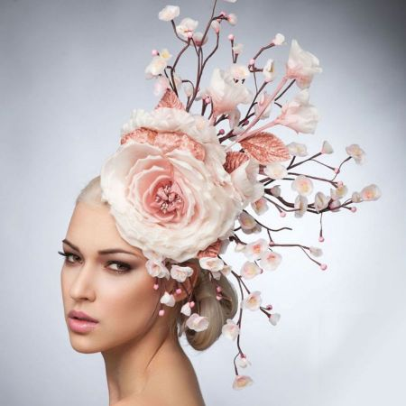 Arturo Rios Collection Cherry Blossoms Fascinator Hat