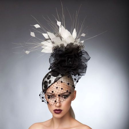 Arturo Rios Collection Julia Fascinator Hat
