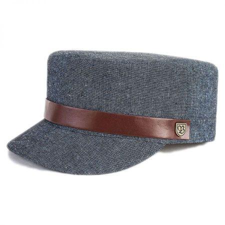Brixton Hats Busker Cotton Canvas Cadet Cap