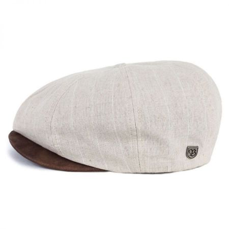 Brood Striped Linen Newsboy Cap