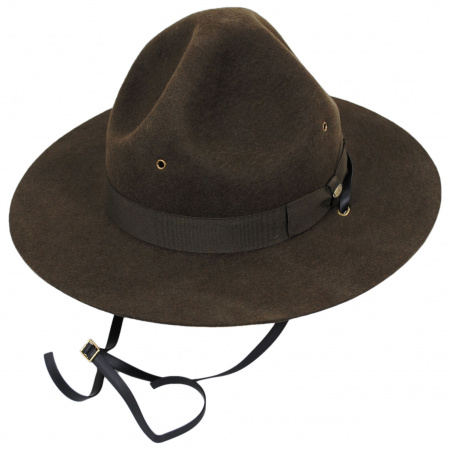 Scala Wool Campaign Hat with Adjustable Chin Strap