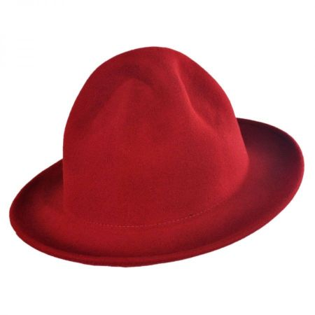 Jaxon Hats Happy Fedora Hat (Red)