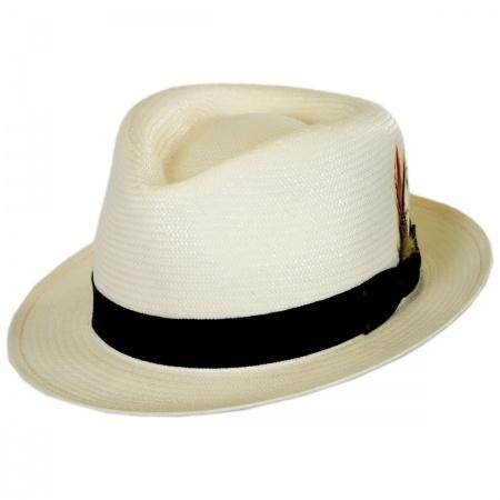 Bailey Guthrie Shantung Straw Fedora Hat