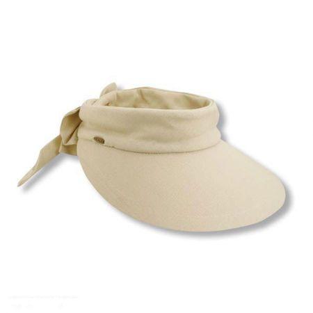 Scala Backbow Cotton Visor