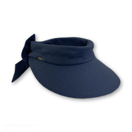Scala Backbow Cotton Visor