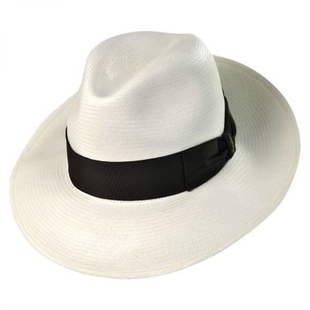 Borsalino Center Pinch Panama Fino Fedora Hat