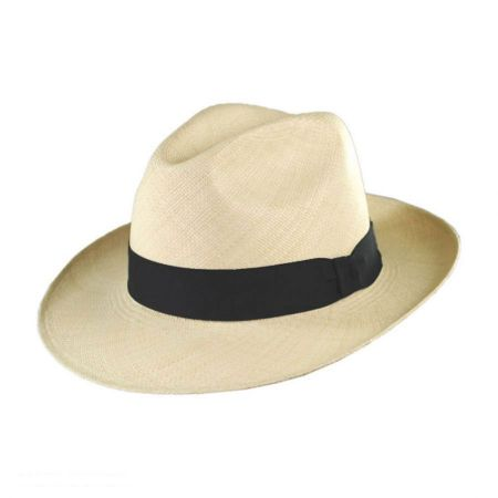 Brisa Grade 4 Panama Straw Fedora Hat alternate view 1