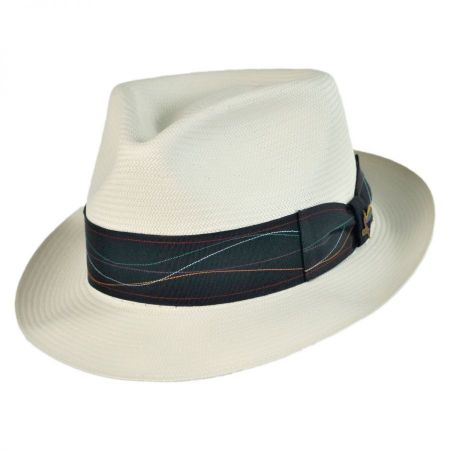 Carlos Santana Borealis Shantung Straw Fedora Hat
