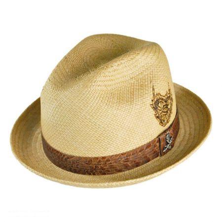 Carlos Santana Sacred Fire Panama Straw Fedora Hat