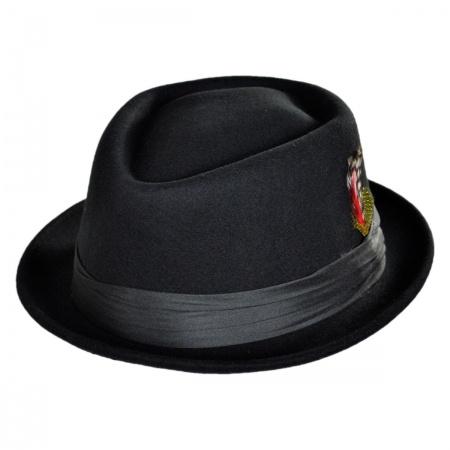 Brixton Hats Stout Wool Felt Diamond Crown Fedora Hat