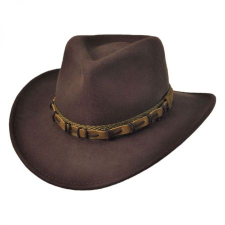 Scala Outback Leather Web Hat