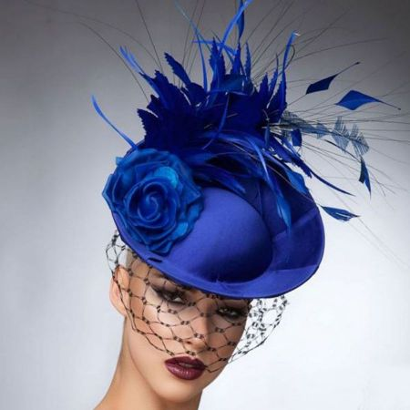 Arturo Rios Crystal Fascinator Hat
