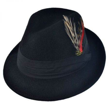 Kid's Blues Crushable Wool Felt Trilby Fedora Hat alternate view 9