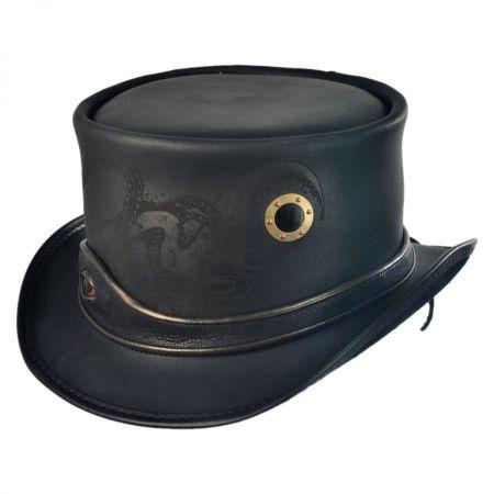 Head 'N Home Kraken Leather Top Hat