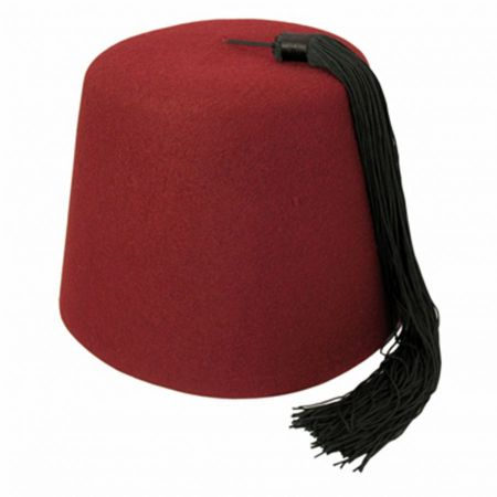 Village Hat Shop Youth Maroon Fez with Black Tassel