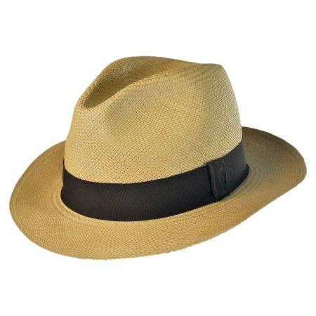 B2B Jaxon Panama Straw Fedora Hat