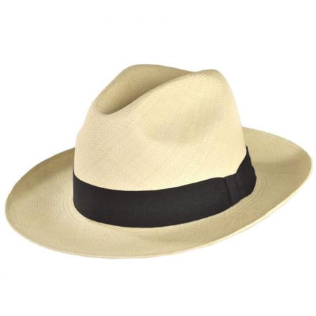 B2B Jaxon Brisa Panama Straw Fedora Hat