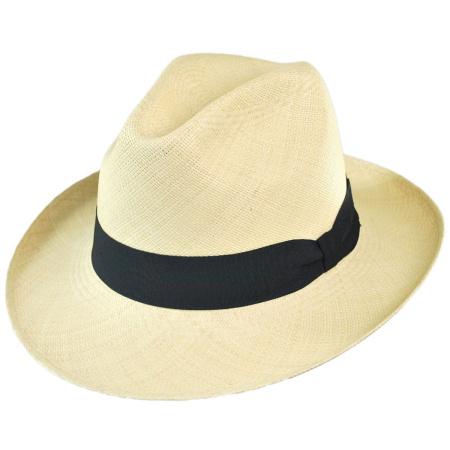 B2B Jaxon Brisa Grade 8 Panama Straw Fedora Hat
