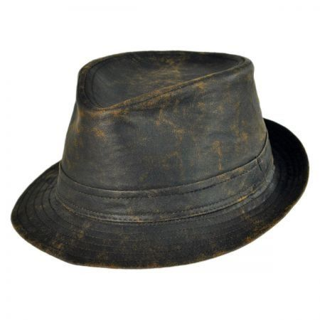 B2B Jaxon Weathered Cotton Trilby Fedora Hat