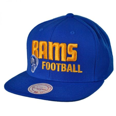 Mitchell & Ness Rams NFL Blocker Snapback Baseball Cap