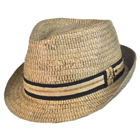 Tommy Bahama Buri Palm Braid Straw Fedora Hat