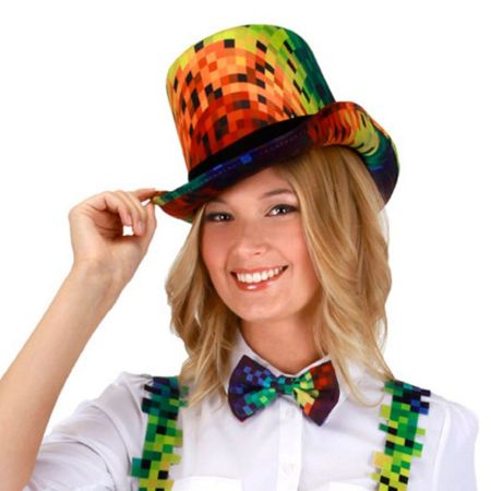 Rainbow Pixel Coachman Top Hat alternate view 1