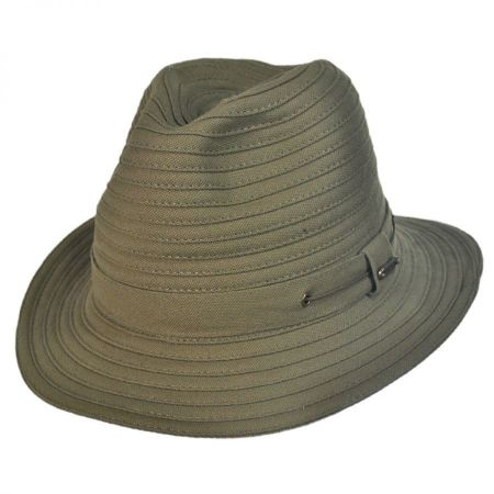 Stetson Canvas Safari Fedora Hat