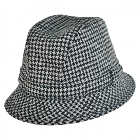 City Sport Caps Houndstooth British Wool Trilby Fedora Hat