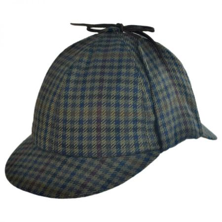 City Sport Caps Cashmere Checkered Sherlock Holmes Deerstalker Hat
