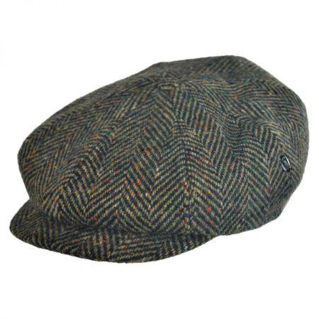 Herringbone Donegal Tweed Wool Newsboy Cap alternate view 1