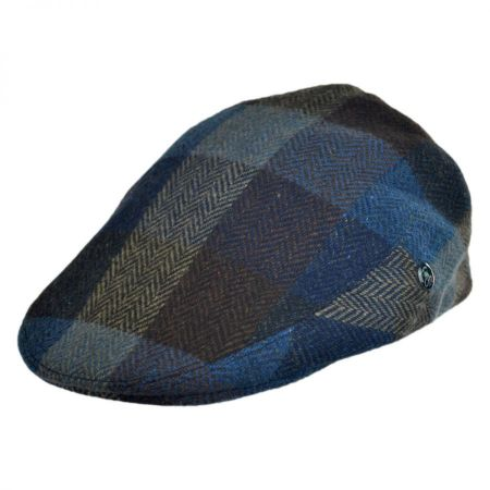 City Sport Caps Herringbone Squares Donegal Tweed Wool Ivy Cap