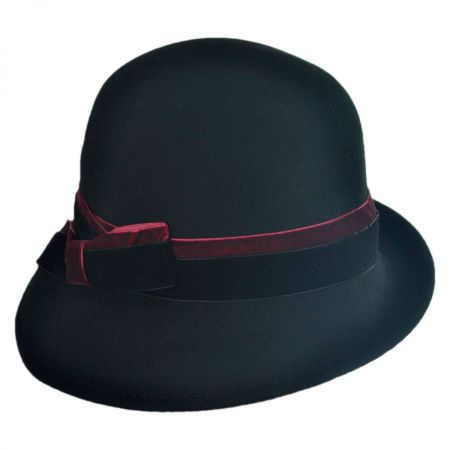 Callanan Hats 2 Tone Velvet Cloche Hat