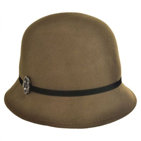 Callanan Hats Brooch Cloche Hat