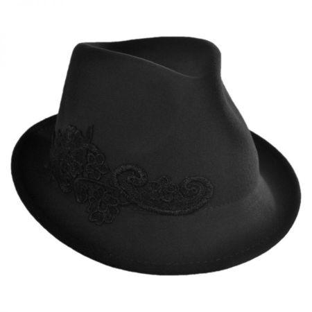 Callanan Hats Lace Applique Fedora Hat